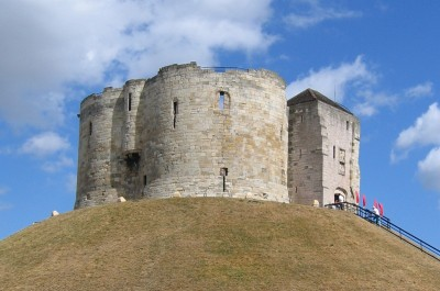 Clifford's Tower, the keep of York Castle.