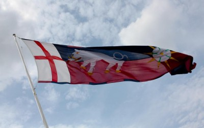 A modern flag of Richard III's now flying near the site of the battle of Bosworth. Troops sent by York may not have made it to this battle in time, but the city repeatedly raised money and men to support Richard as duke and king.