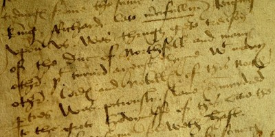 York Council House Book entry for 23 August 1485, recording the city's reaction to the news of Richard III's death at the battle of Bosworth.